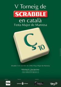 Cartell del 5è Torneig de Scrabble en Català