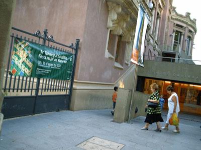 Aspecte que oferia l'entrada del Centre Cultural del Casino durant el torneig