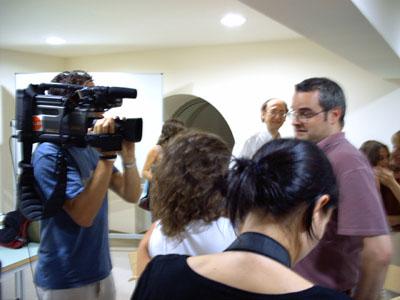 Jordi Torra atenent als mitjans de comunicació tot just acabada la final