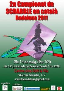 cartell del 2n torneig Scrabble en català de Badalona